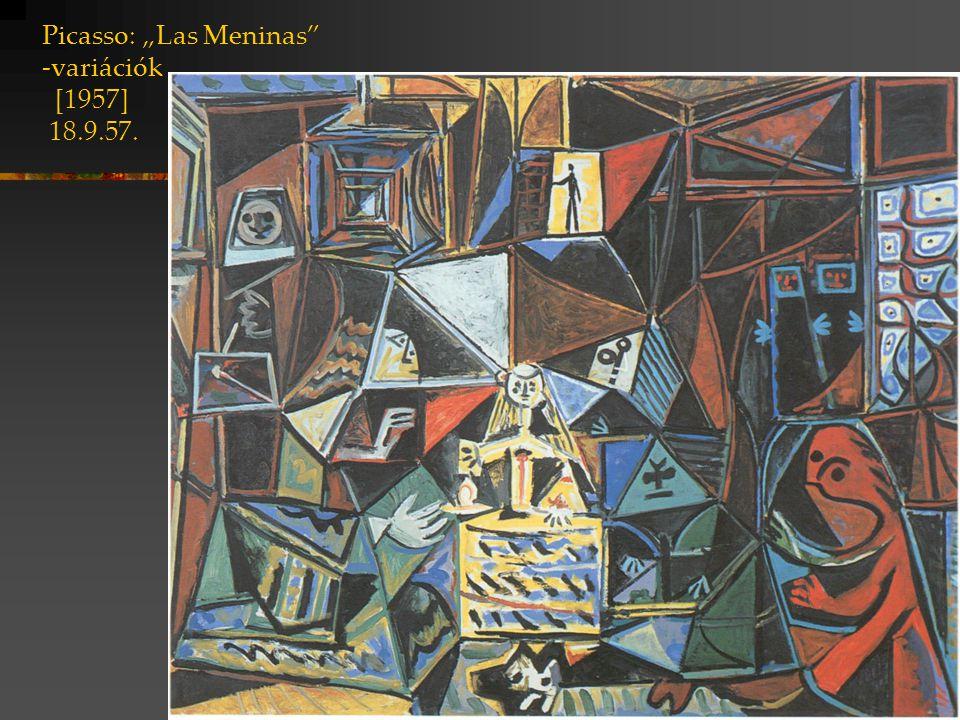 """Picasso: """"Las Meninas -variációk [1957] 18.9.57."""